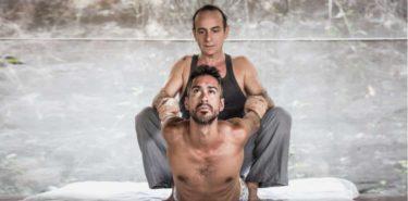Ayurvedic Yoga Massage with Ananta. The cobra stretch